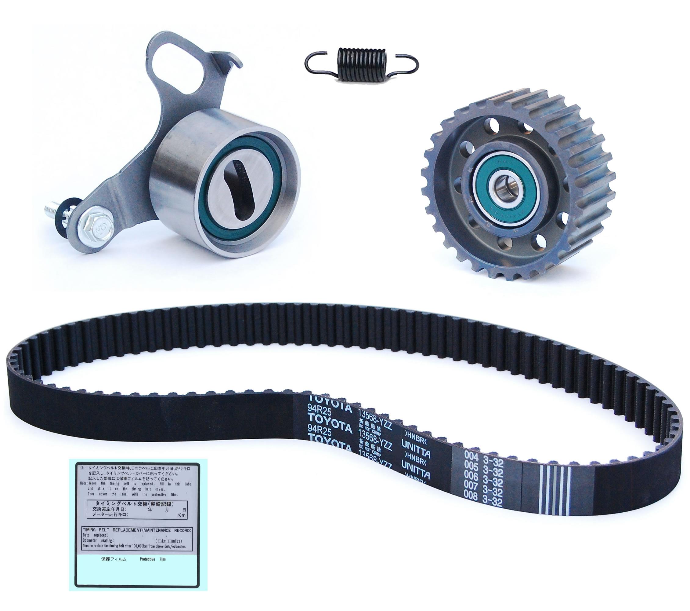 cam timing belt kit with genuine toyota belt cam timing belts engine parts get parts. Black Bedroom Furniture Sets. Home Design Ideas