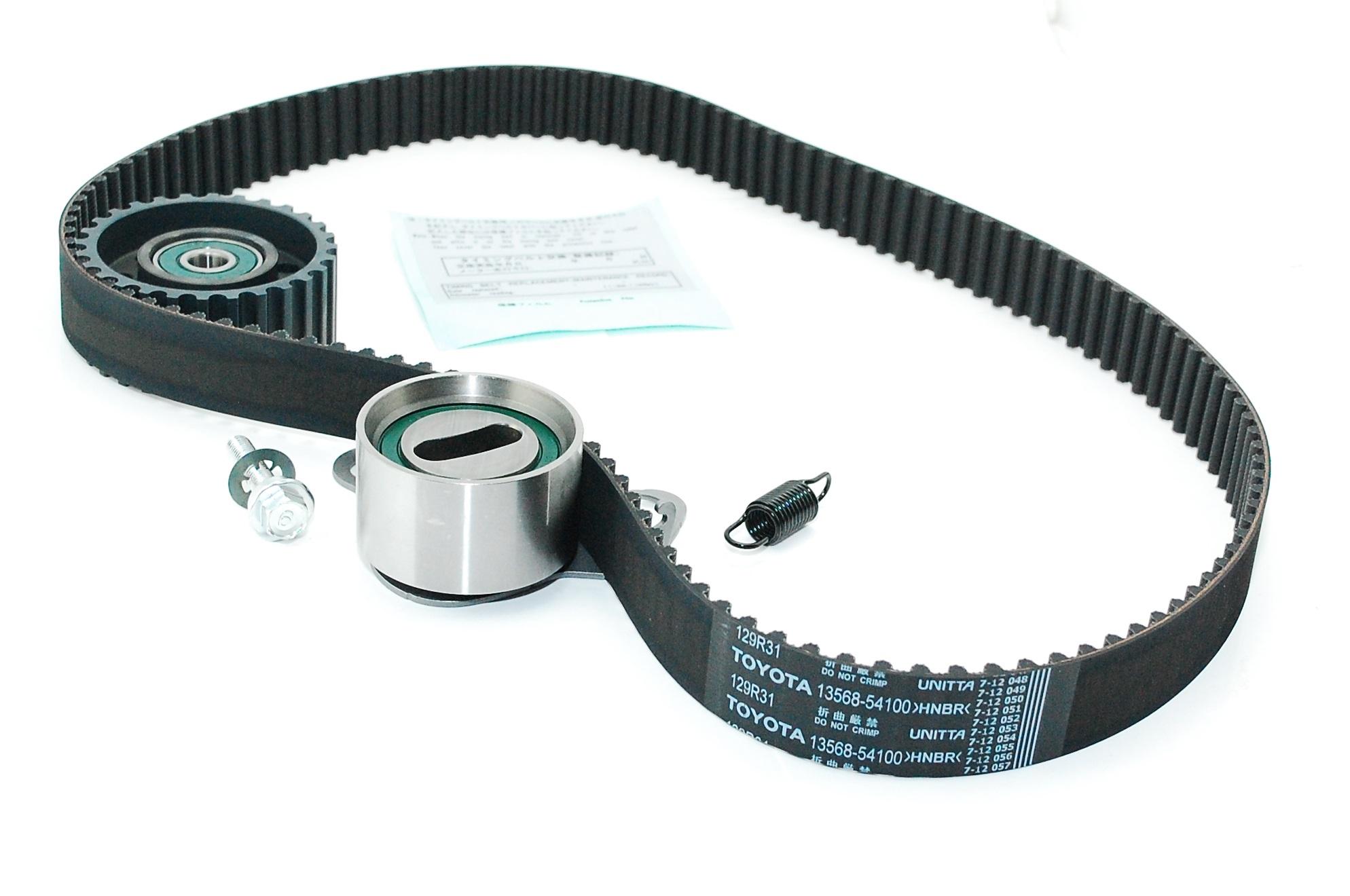 cam timing belt kit with genuine toyota belt