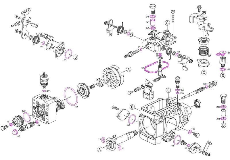 Bosch Diesel Fuel Pump Overhaul Seal Kit Hilux Pickups Hilux Surfs Land Cruisers