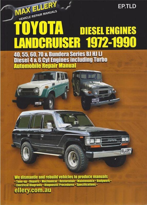 Max Ellery Workshop Repair Manual 70 Series Land Cruiser 1972 1990