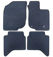 Front and Rear Tailored Black Penny Rubber Floor Mats