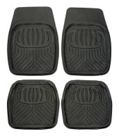 Set of 4 Universal fit Heavy Duty Black Floor Mud Mats