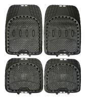 Steetwize Universal fit Heavy Duty Floor Mud Mats - Black set of 4