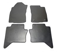 Tailored Black Penny Rubber Floor Mats