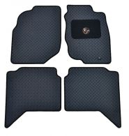 RoughTrax Tailored Black Rubber Floor Mats - Double Cab, set of 4
