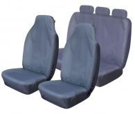 Cosmos Super Heavy Duty Grey Front & Rear Seat Covers