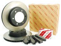 Genuine Toyota 320mm Front Brake Disc & Pad Kit