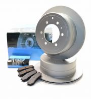 Pair of Kavo rear Silver coated discs and set of pads - all R90 approved