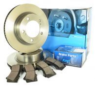 Pair Front Brake Discs & set of pads in one kit, 200 Series 2007-ON
