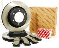 Genuine Toyota Front Brake Discs & Pad Kit