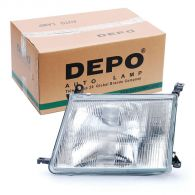 Depo Left Hand Headlamp with Patterned Frosted Lens