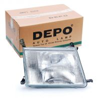 Depo Right Hand Headlamp with Patterned Frosted Lens