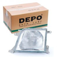 Depo Left Hand Headlamp Patterned Frosted Lens