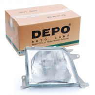 Depo Right Hand Headlamp Patterned Frosted Lens