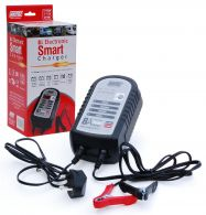 Maypole 8A 12V Electronic Smart Battery Charger Set