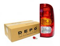 Depo Right Hand Rear Light Assembly (With red bulb for fog lamp)