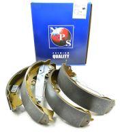 NPS Rear Drum Brake Shoe Set KUN25 & KUN26 - with pull levers