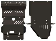 Sheriff Steering, Sump & Transmission Guard Skid Plate Black Steel