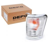 Depo Left Hand Front Side Lamp Indicator with Chrome Surround