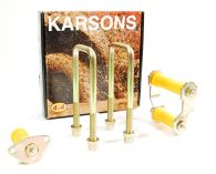 Karsons Front Leaf Spring Mounting Shackle, Pin & Bush Kit