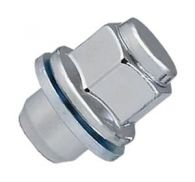 Flat Seat Chrome Wheel Nut with Washer M12x1.5mm