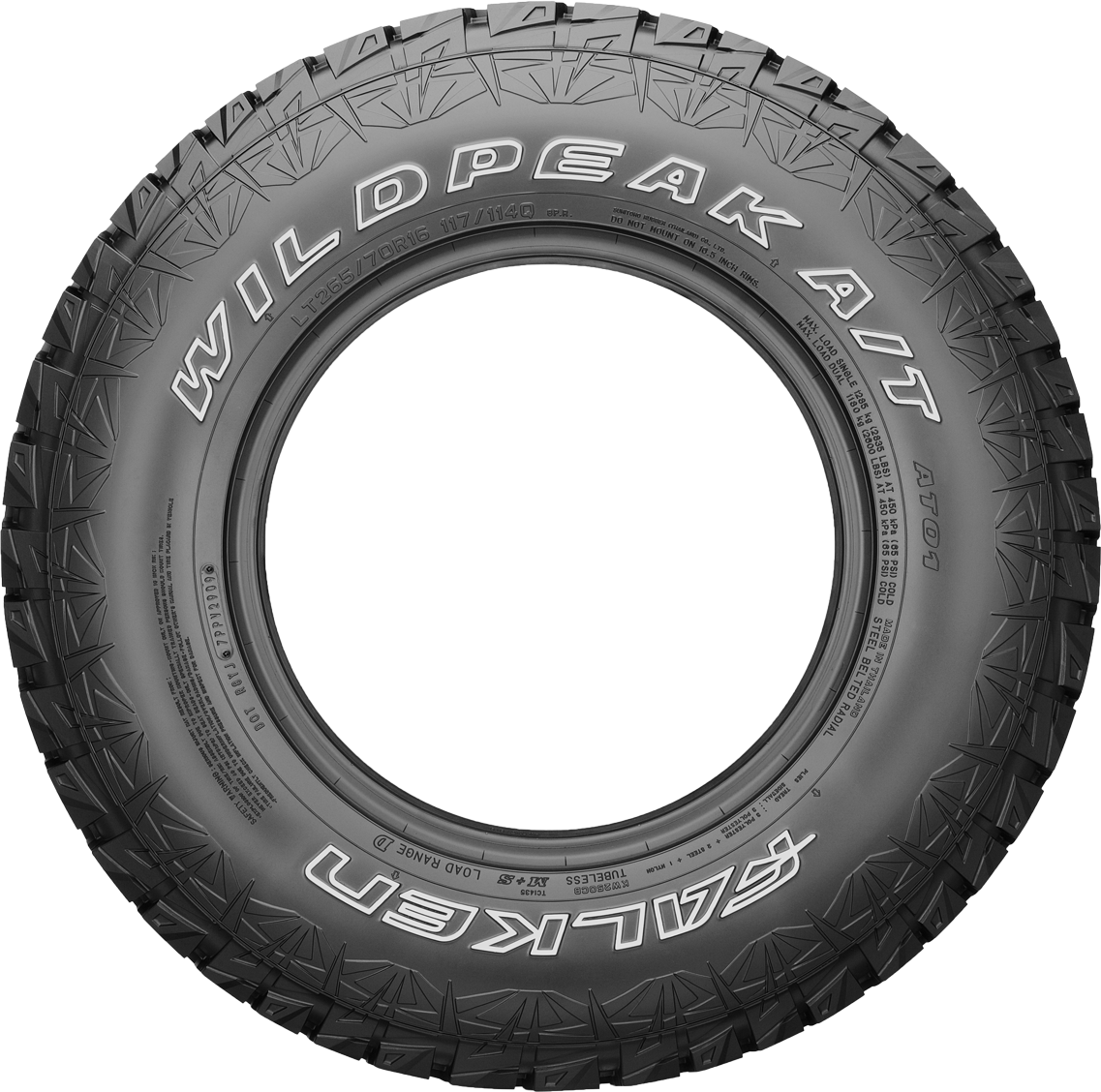 How To Read A Tire Sidewall >> Falken WildPeak AT 205/80xR16 110R   RoughTrax 4x4