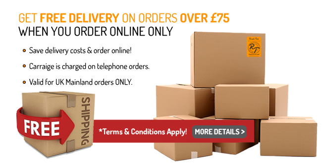 Free Delivery over £75 to UK Mainland