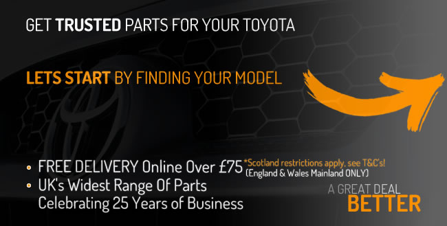 Get parts for your Toyota