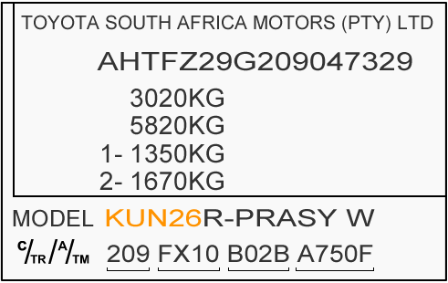 KUN26 Chassis Plate