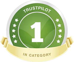 #1 Best in category on Trustpilot