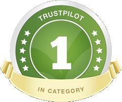 #1 Best in category on Trustpilot