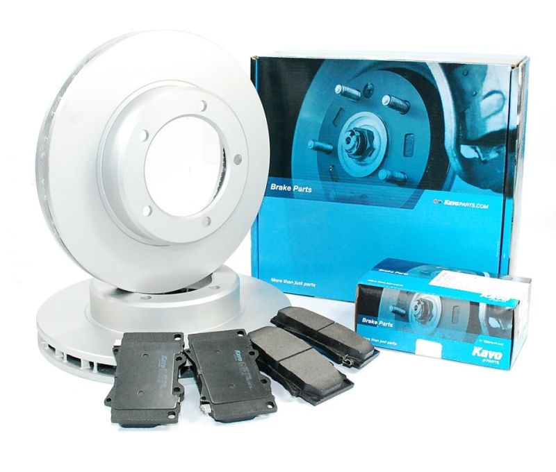 2x Brake Discs Pair Vented fits TOYOTA LAND CRUISER UZJ100 4.7 Front 98 to 07