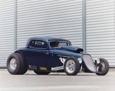 1934 Ford Coupe Hot Rod Dragster, 8 Litre Nitro Powered!