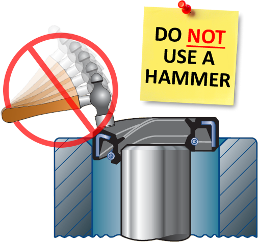 DO NOT USE A HAMMER