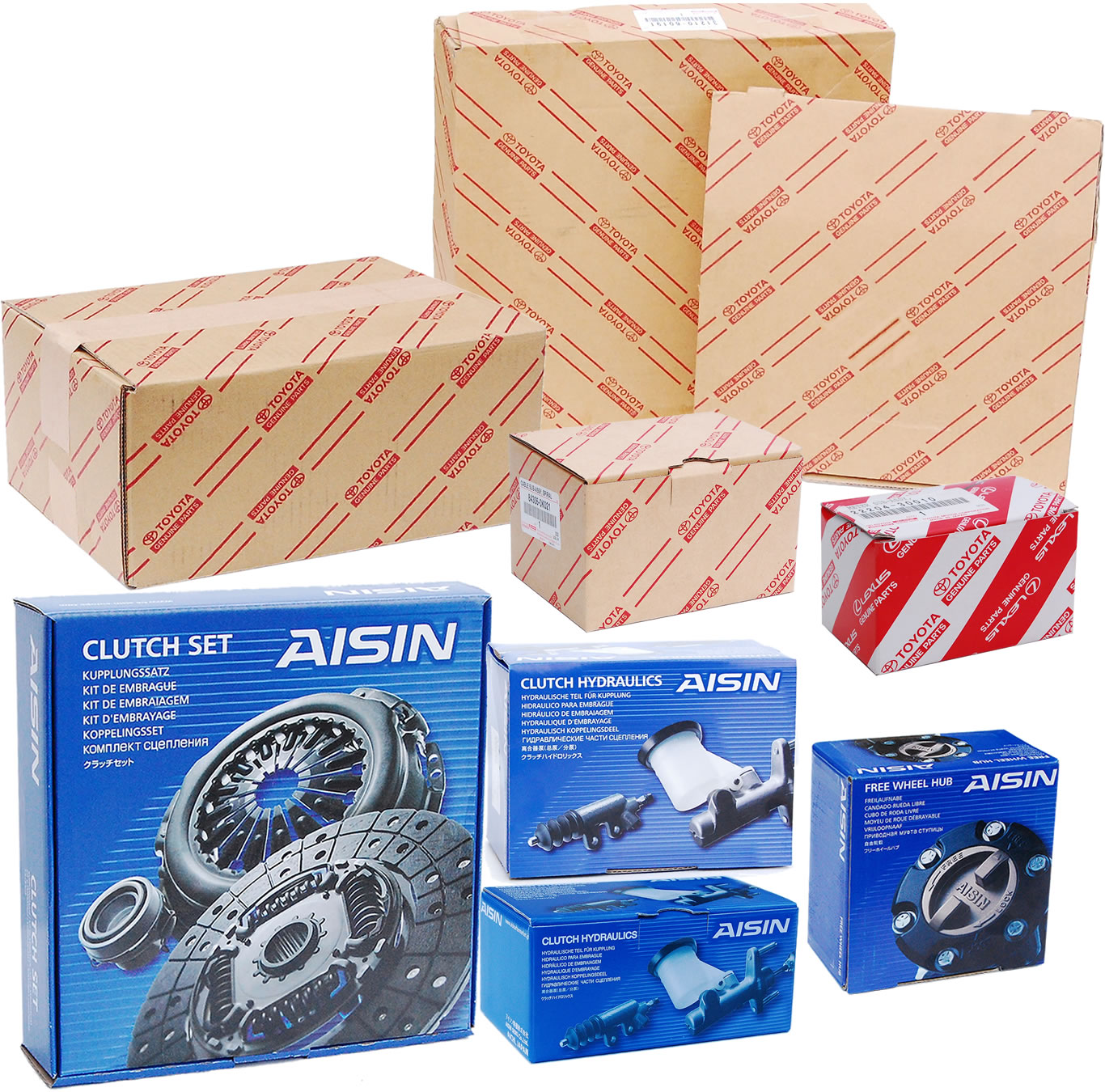 Toyota and Aisin Packaging Boxes