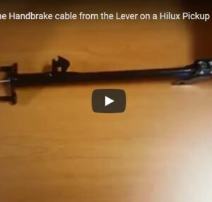 How to remove the Handbrake cable from the Lever [VIDEO]